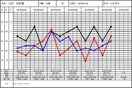 熱型表&看護記録
