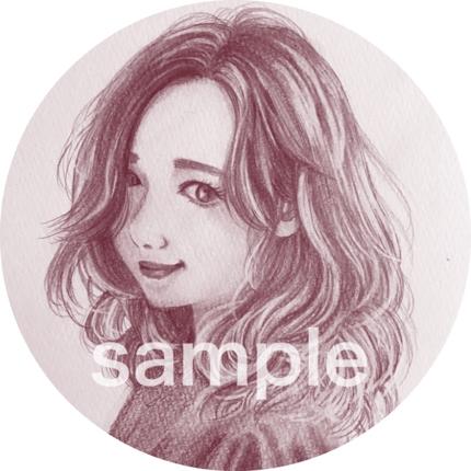 【似顔絵】鉛筆でリアル風の可愛い似顔絵描きます
