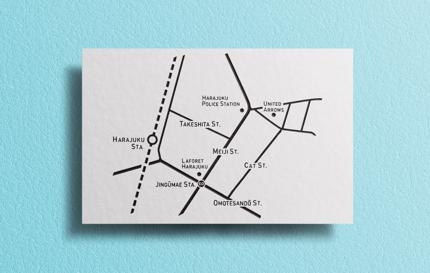 ミニマルで見やすい、おしゃれなデザインにぴったりのAI地図データを制作致します。