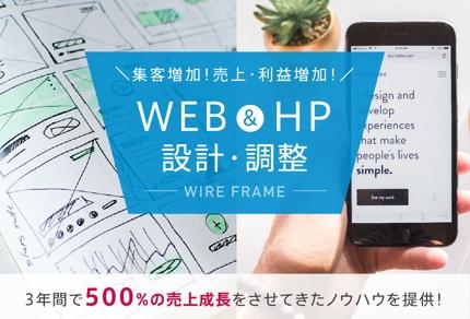 WEBサイトの設計・修正作業(LPOやHPデザイン含む) A4サイズの1画面〜