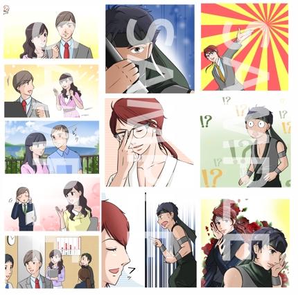 広告漫画動画のイラスト作成