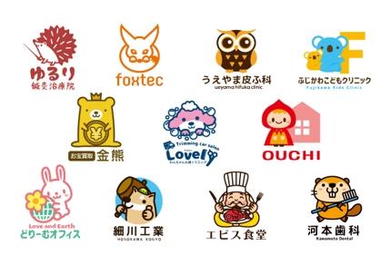 可愛いキャラクターロゴ【修正無料】