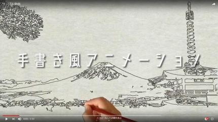 手書き風アニメーションを作ります