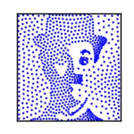 写真から点画のアニメGIFを作成します!