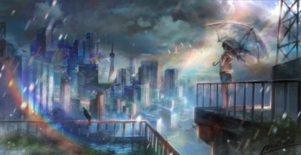 ゲーム、アニメ、漫画などのコンセプトアート風イラスト制作
