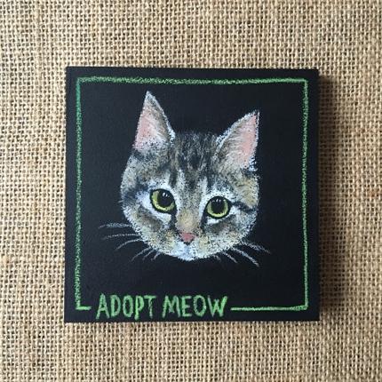 愛猫の似顔絵描きます★10㎝×10㎝