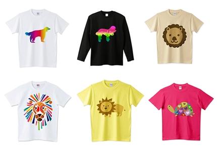 オリジナルTシャツ作ります!6500点以上のイラストの中から選べます