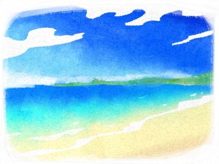 水彩風 風景イラスト制作