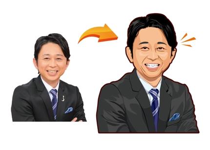 プロが似顔絵制作致します!SNSのアイコンや名刺など利用用途は何でもOK!