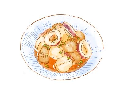 美味しそうな料理イラストを描きます。