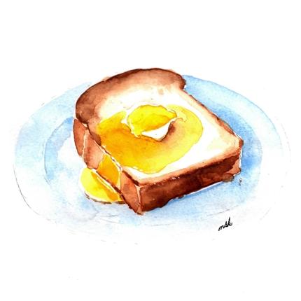 美味しそうなイラストを描きます。