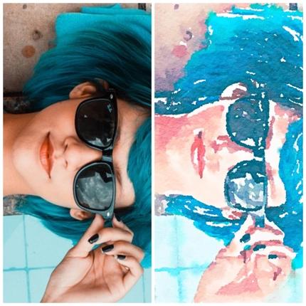 写真を水彩画風に加工します!