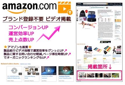 【アマゾンUS】ブランド登録不要 動画を商品ページにアップ 2動画パック