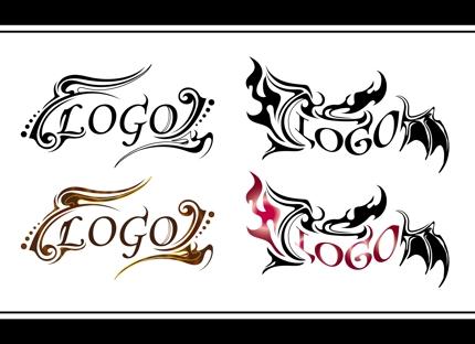 トライバルデザインで装飾した、文字ベースのロゴを制作いたします。