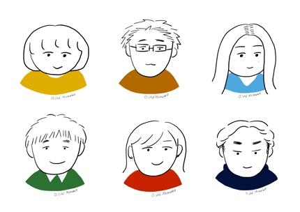 ゆるくてシンプルな似顔絵を描きます