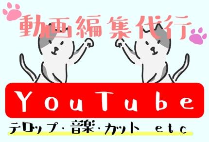 【YouTube動画編集】文字入れ・BGM・カット編集など