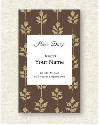 名刺・ショップカードデザイン2種ご提案致します