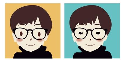 SNS用の似顔絵を描きます