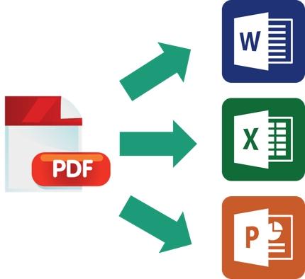 PDF→Excel、Word等ご指定のファイル形式に変更(10枚)