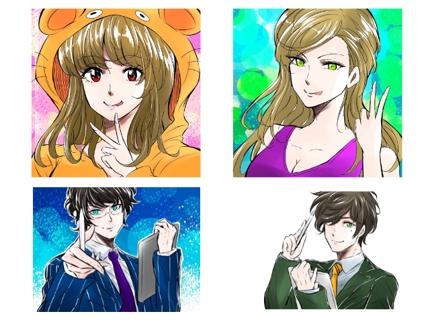 【ジャンプ新人賞の漫画家】アイコン・自画像、広告バナーを1枚から制作します!