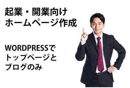 起業・開業向けホームページWORDPRESSサイト構築