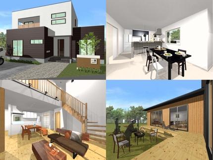 注文住宅の間取図・3Dパース作成致します