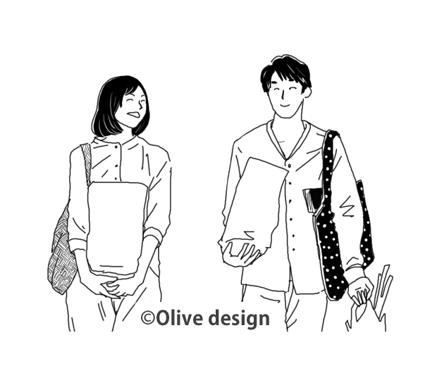 線で描き上げた白黒ベースのイラスト+カラー相談可
