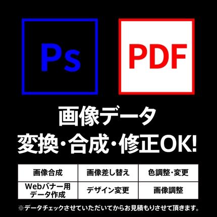 画像・psd・pdfデータ修正できます