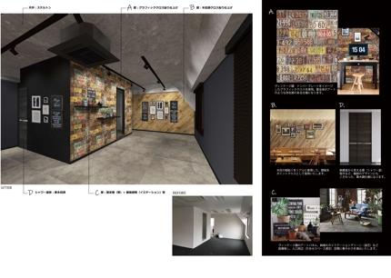 インテリアデザイン(店舗・オフィス・住宅) プラン・イメージパース提案