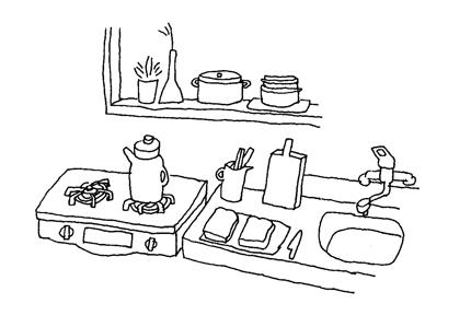 【雑誌やWEBサイトの挿絵に】丁寧な暮らしをシンプルな線でイラストにします