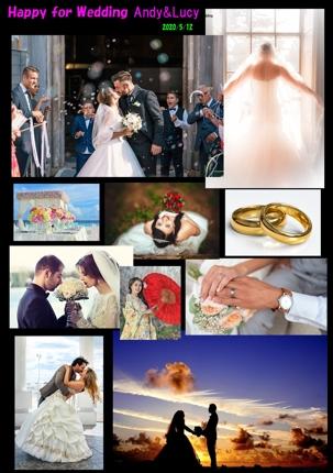 結婚式や子供の思い出を一枚のデジタルフォトシートにまとめます!