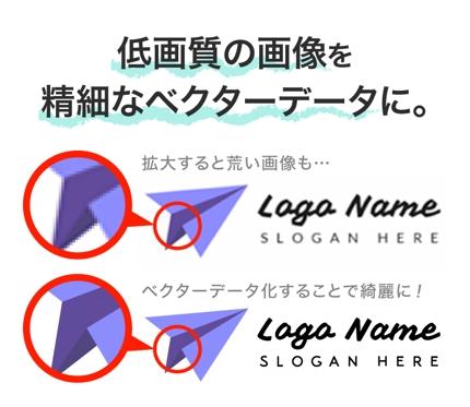 ロゴやイラストをaiデータ・高画質な画像データへトレース、変換。