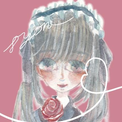 お人形さんみたいな水彩画アイコンを描きます