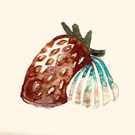 メニューの食べ物水彩画で描きます