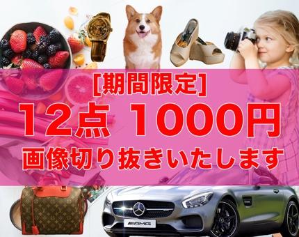 【今だけ!特別価格!】  12点 1,000円で画像の切り抜きいたします!