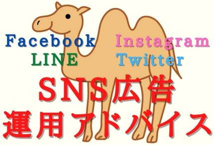 Facebook・LINE・Twitter等 SNS広告運用アドバイス!