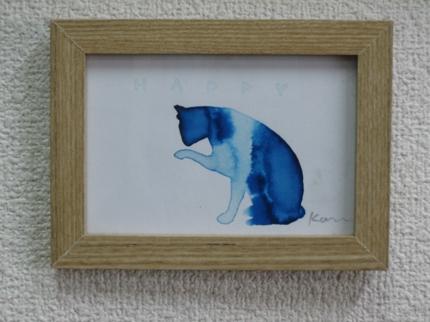 可愛い猫・はがきサイズポーズ猫