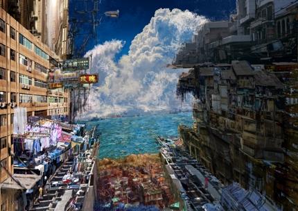 リアル風かつ迫力の非現実背景、風景イラスト描きます
