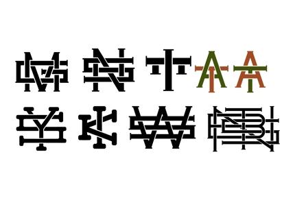 個人名やチーム名、団体名のイニシャルロゴ制作します