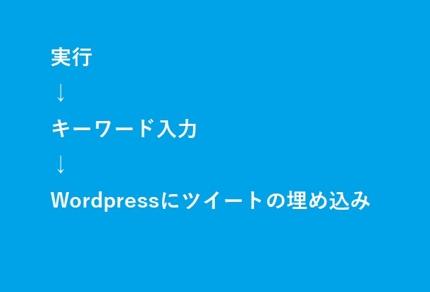 キーワード検索したツイートの埋込タグをワードプレスに投稿するexeファイルの提供