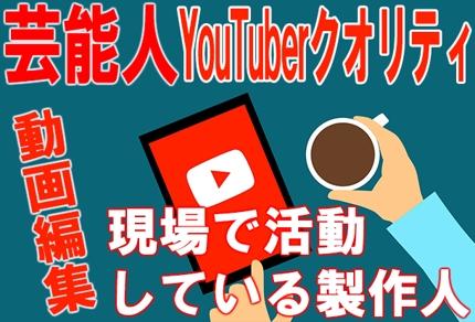 YouTuber用の動画編集を致します