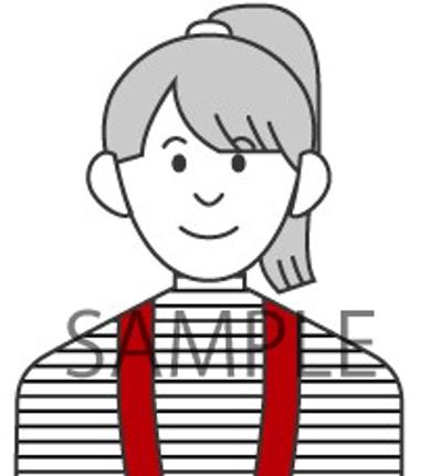 シンプルな線で似顔絵を描きます