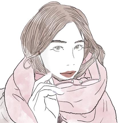 おしゃれでかわいい、雰囲気のあるイラストを描きます。