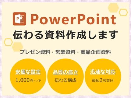 1ページ1000円~!伝わるパワーポイント資料を作成します!