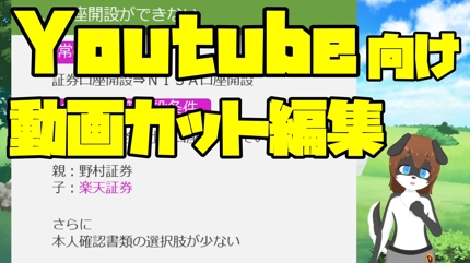 【ビジネス動画向け】Youtube向け動画カット編集