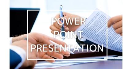 パワーポイントによる資料作成