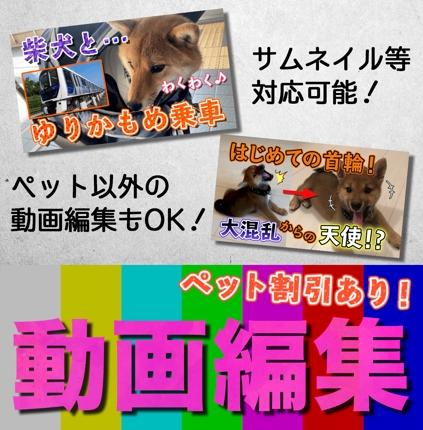 【ペット割引あり】動画編集をします!