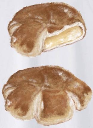 美味しそうなパンのイラスト制作