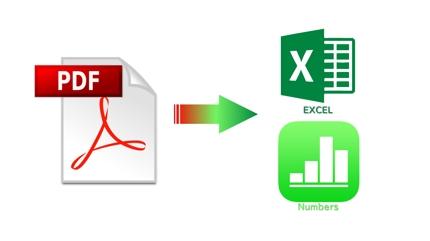 PDFをEXCEL/Numbersで再現
