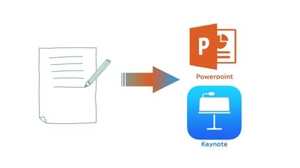 手書き資料をPOWERPOINT/Keynoteで再現